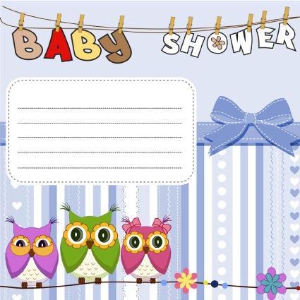 descargar gratis invitaciones para baby shower nio buho