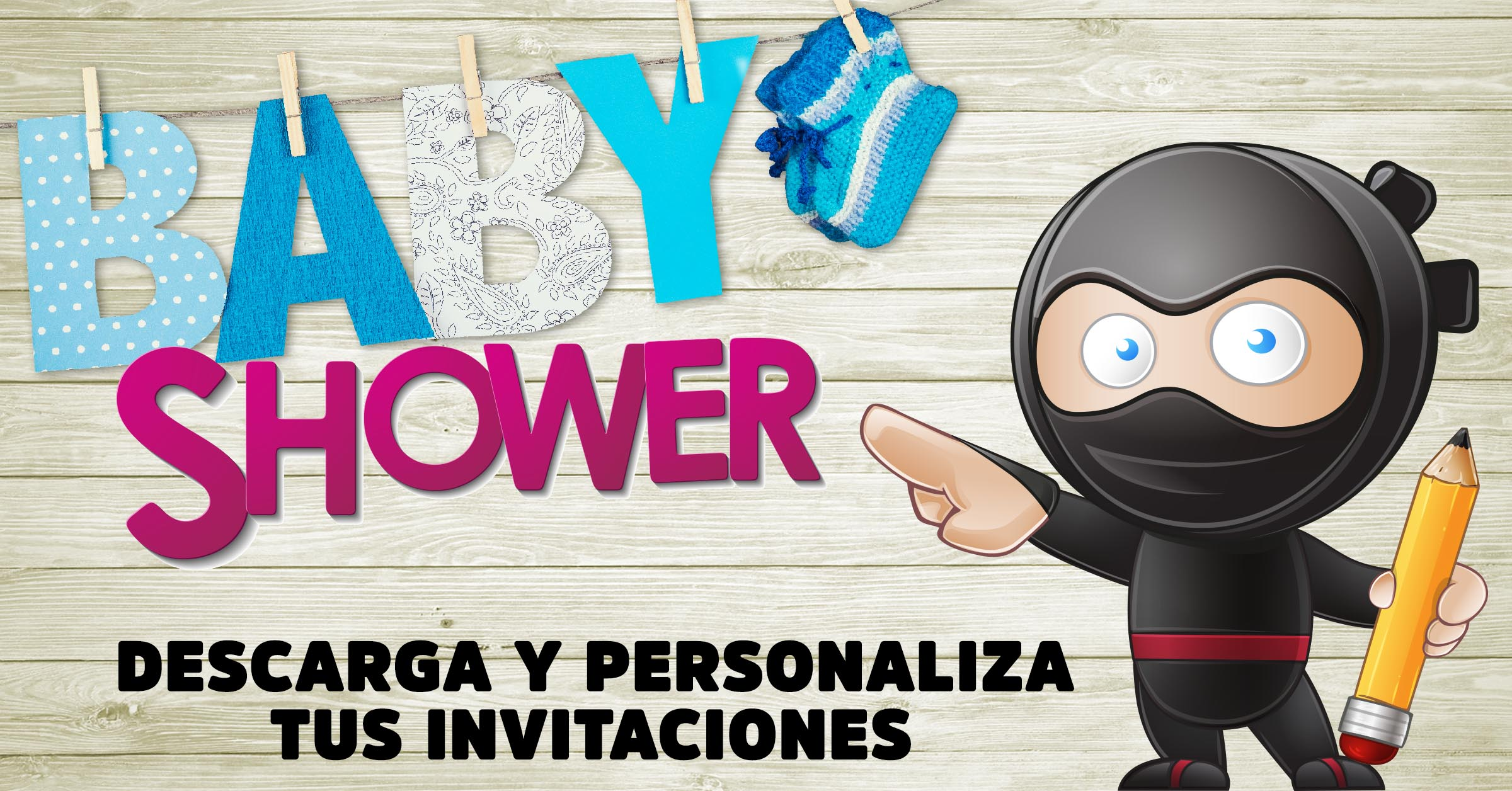 Descargar gratis invitaciones baby shower