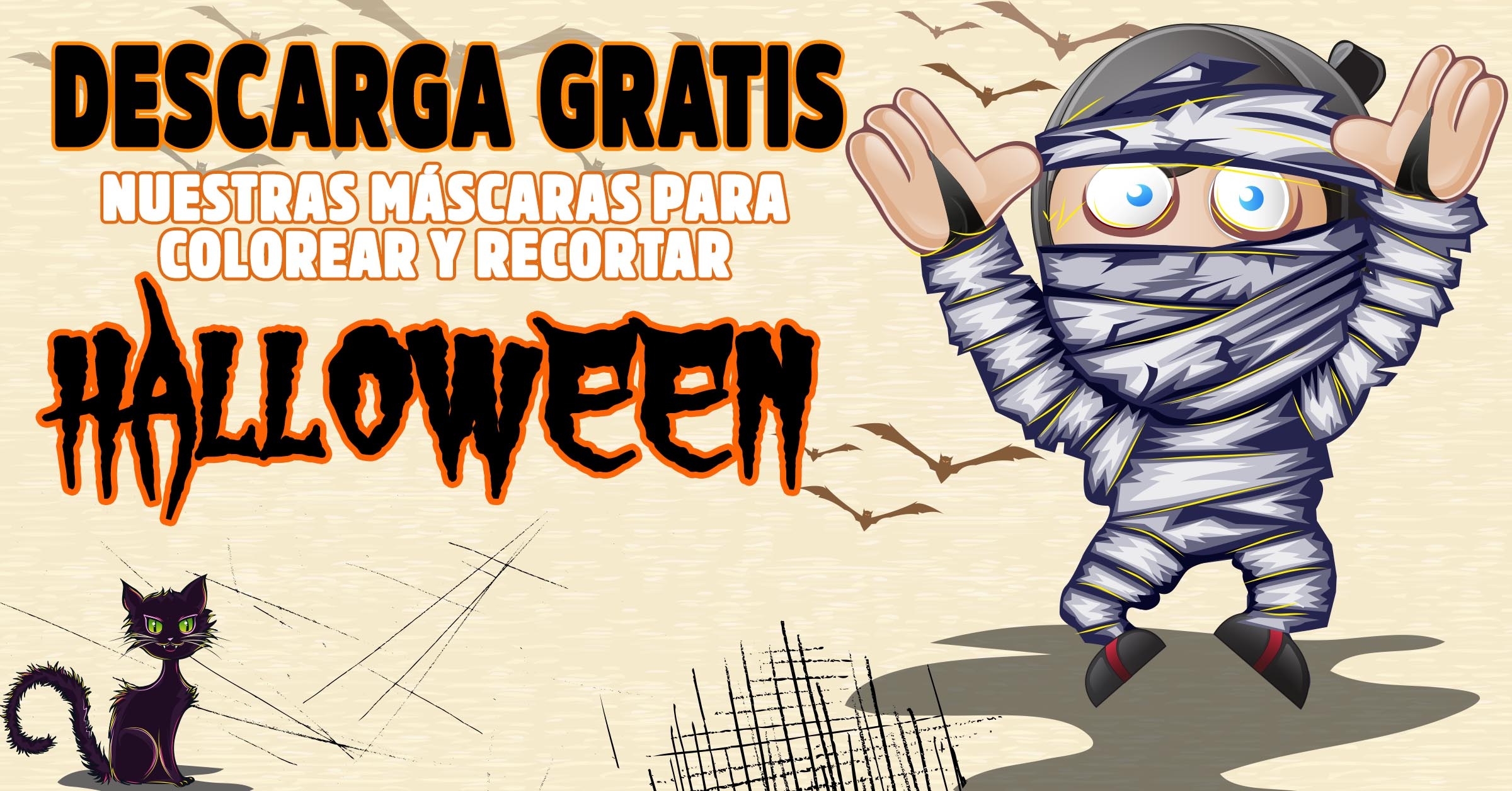 Descarga gratis mascaras de halloween